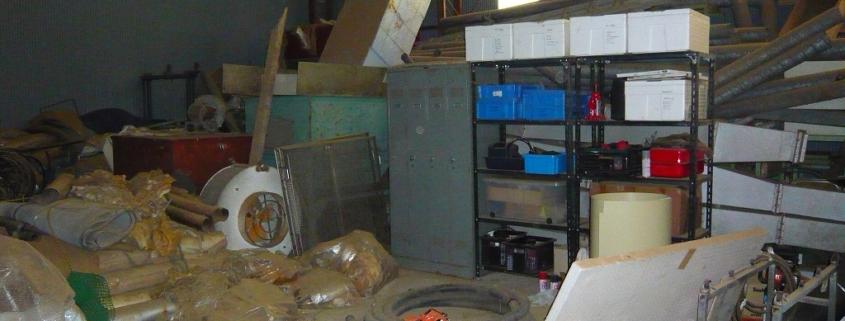 プレス工場の閉鎖に伴う片付け・整理